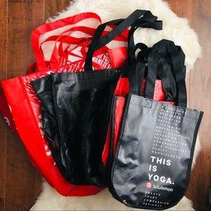 Lululemon 7 shopping bags